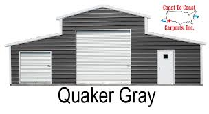 Loafing Shed Kits Utah by Metal Building Color Options