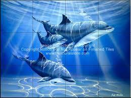 dolphin and whale bathroom tile ideas dolphin journey tile mural