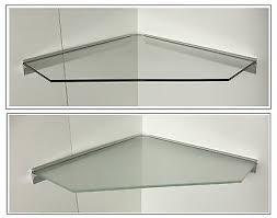 eckregal glas klar satiniert 55x55cm pentagon profil alu
