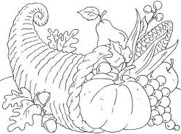 Printable Thanksgiving Coloring Pages 1