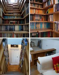 Stairs Bookshelves What Started As A Space Saving Strategy Turned Into Centerpiece Of This Interior Redesign The Experience Complete Book Overload