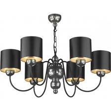 Pewter and Black Ceiling Light Garbo Chandelier Gothic Mosaic Pewter