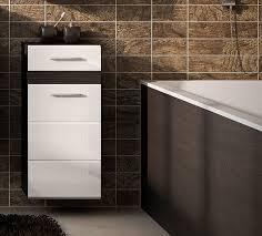 badschrank eglo badezimmerschrank mit schublade 37cm eiche dunkel weiß hochglanz