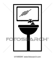 piktogramm badezimmer symbol clipart k41569344 fotosearch