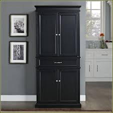 Pantry Cabinet Home Depot by Kitchen Black Tall Stand Alone Kitchen Pantry With Cabinet And