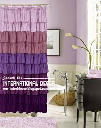 Purple Ruffle Curtain Panel by Bathroom Gorgeous Ruffle Curtains For Home Decoration Ideas