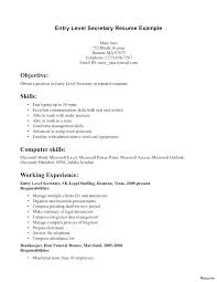 Sample Resume For Executive Assistant To Ceo Secretary Examples School Resumes Samples State