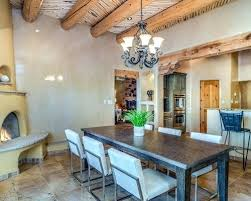 Large Dining Room Ideas Example Of A Southwest Floor And Brown Kitchen Formal