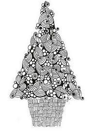 Christmas Printable Coloring Page Tree