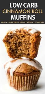 low carb cinnamon roll muffins keto paleo vegan