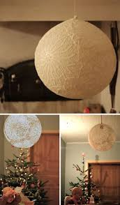 DIY Doily Light Simple Suspended Sphere Lace Lamp Shade