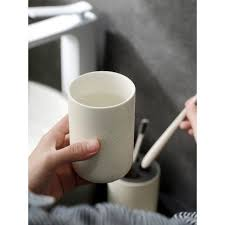 nordic bathroom accessories ceramic mouthwash cup toothbrush cup teeth cup holder ванная комната badezimmer badkamer bathroom tu