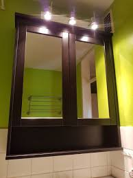 hemnes spiegelschrank in schwarzbraun