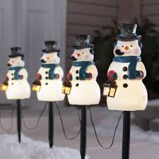 Christmas Bathroom Sets At Walmart by Holiday Time 4 Piece Vintage Snowman Pathway Christmas Lighted