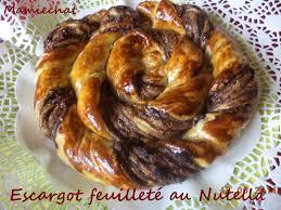 escargot feuilleté au nutella le de chantal76