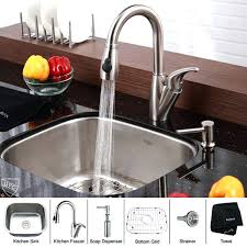 Kraus Faucet Home Depot by Stainless Steel Kitchen Sink And Faucet Combo Costco Sinks