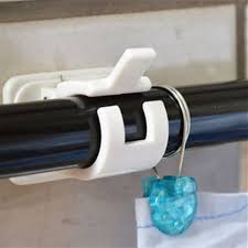 Suction Cup Curtain Rod Holder by 2pcs Shower Curtain Rod Holder Clip With Self Adhesive Wall Hooks