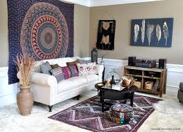 Living Room Makeovers 2016 by Boho Living Room Makeover Pop Of Color With World Market Made