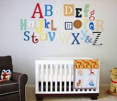 Alphabet Set Wooden Letters Alphabet Wall ABC Wall PAINTED 12