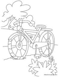 Full Length Kids Bike Coloring Page Daal Darajah Bicycle