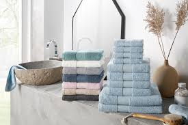 my home handtuch set ally in dezenten unifarben