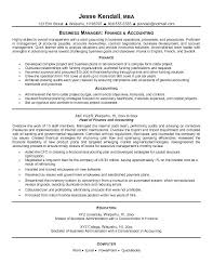 Resume Examples For Accounting Finance And Samples Professionals