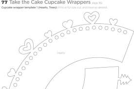 3 Cupcake Wrapper Template Free Download