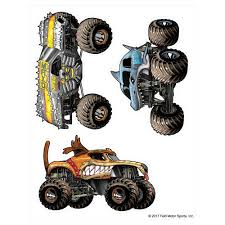 100 Monster Truck Wall Decals Jam S Decal Sticker Pack Decalcomania