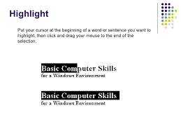 How To Word Your Computer Skills On A Resume by Windows Basic Computer Skills