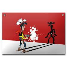 Enamel Plates - Enamel Plaque - Lucky Luke By Coustoon