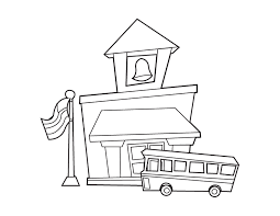 Schoolhouse Coloring Page House Printable