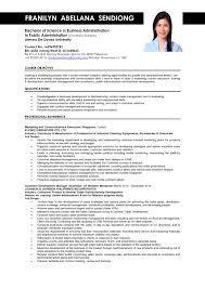 Sample Job Resumes Business Administration Resume Samples