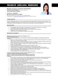 Sample Job Resumes Business Administration Resume Samples