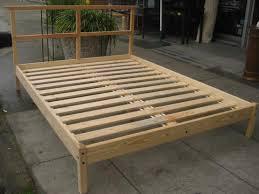 bed frames diy king platform bed build a king size bed frame diy