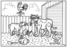 Printable Cow Sheep Hen Rabbit Duck Animal Farm Coloring Page For Kids Didicoloring