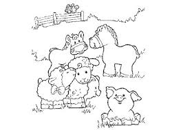 Cute Free Coloring Pages Of Animals