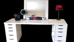 Diy Makeup Desk Ikea by Makeup Collection Storage Ikea Youtube