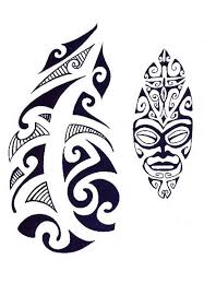 Polynesian Arm Tattoo Design And Head