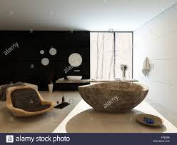 zeitgemäßen luxus badezimmer interieur mit freistehende