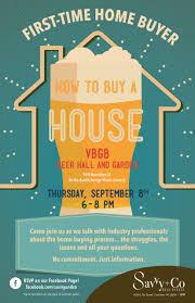 Invitation First Time Home Buyer Class September 8 2016 VBGB No Logo