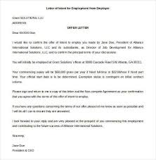Letter of Intent for a Job Templates 21 Free Sample Example