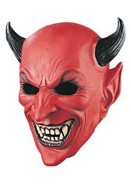 Halloween Silicone Half Masks by Devil Accessories Devil Horns Masks And Pitchforks