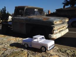 My 1960 Chevy And The 1/25 Scale Model I Made Of It : Trucks