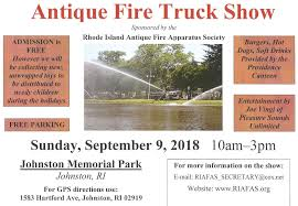 2018 RI Antique Fire Truck Show 9/9 - Johnston RI - Fire Apparatus ...