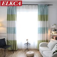 japan stil bunte horizontal gestreiften vorhang für wohnzimmer thick jacquard faux leinen vorhänge für schlafzimmer fenster vorhänge
