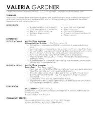 Store Manager Resume Examples Awesome Retail Assistant 20 New