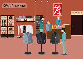 Clothing Store For Men2 Vector Art Illustration