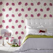Pretty Pink Flower Wall Decorations Design For Bedroom Idea
