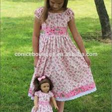 Vintage Teen Girl Clothes Matching Doll Outfits Children Boutique Dress
