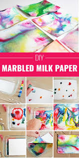 20 Have Fun With Marbled Milk Paper
